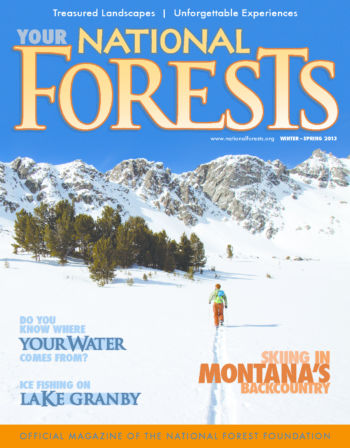 Your National Forests Magazine Winter/Spring 2013 Cover